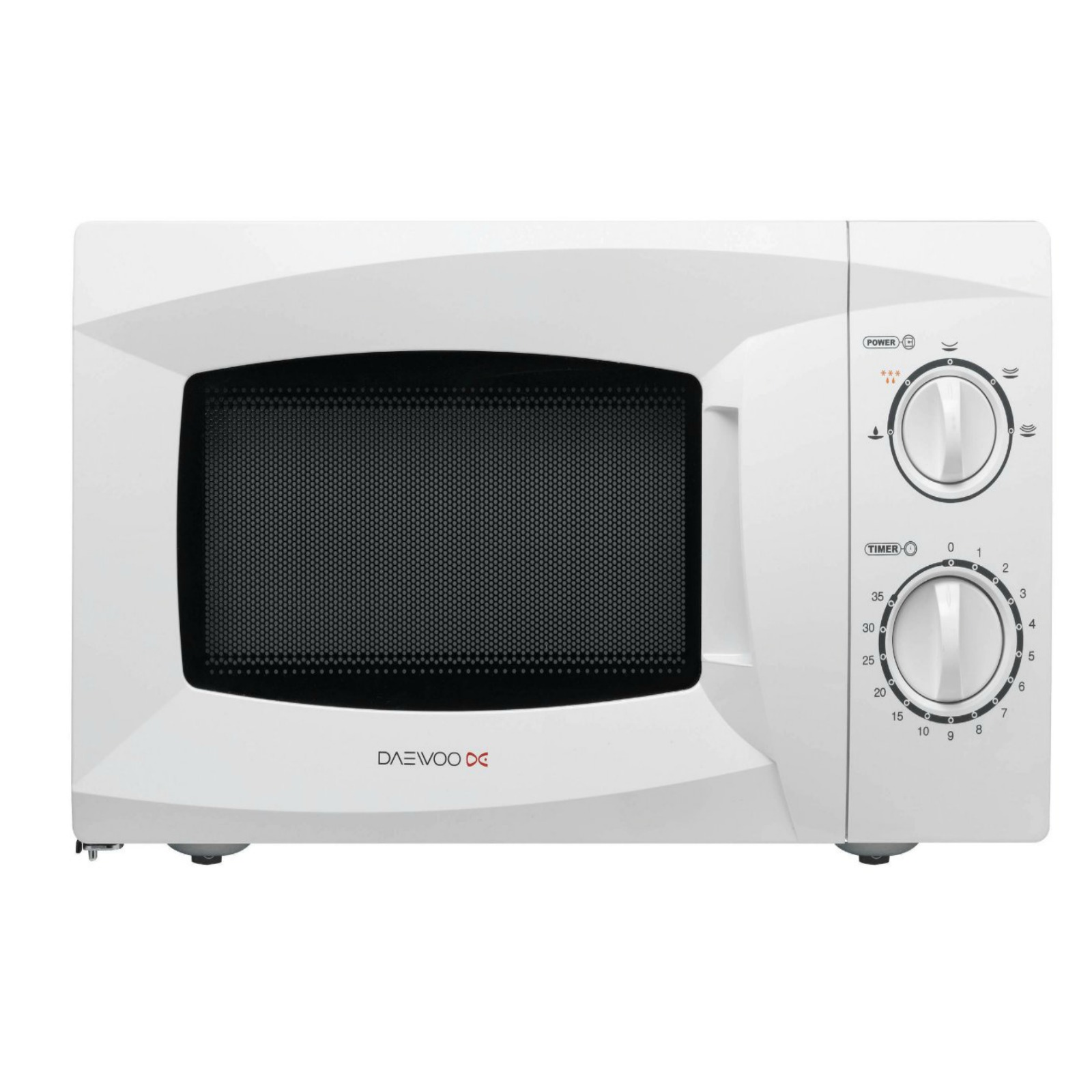 daewoo kor6l15 manual microwave 800 watt 20 l white new. Black Bedroom Furniture Sets. Home Design Ideas