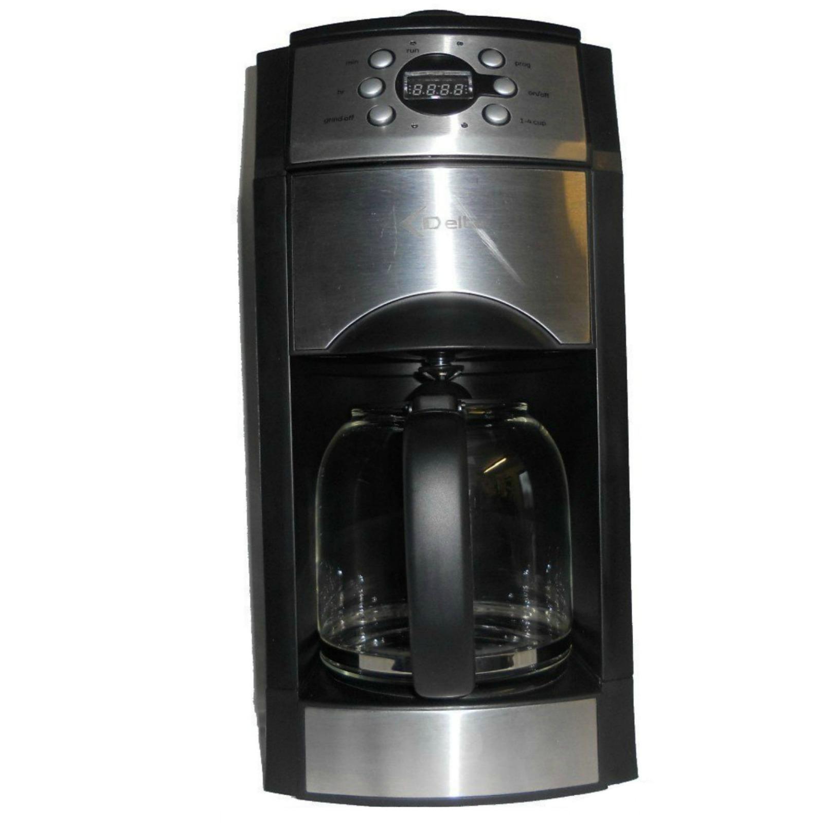 Delta Coffee Maker With Grinder : Delta ADMC4117T Coffee Maker with Grinder Silver eBay